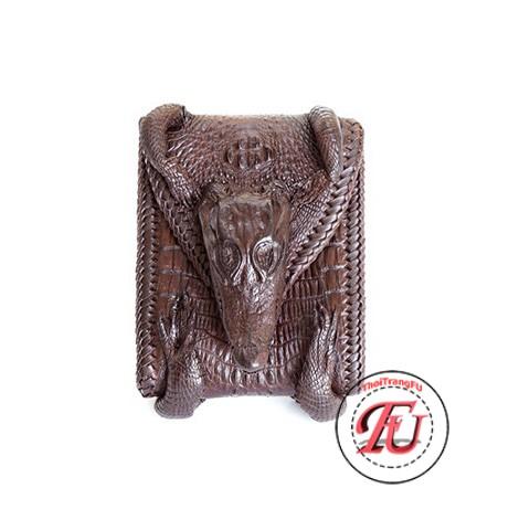 Ví cá sấu đan viền thời trang FVS09