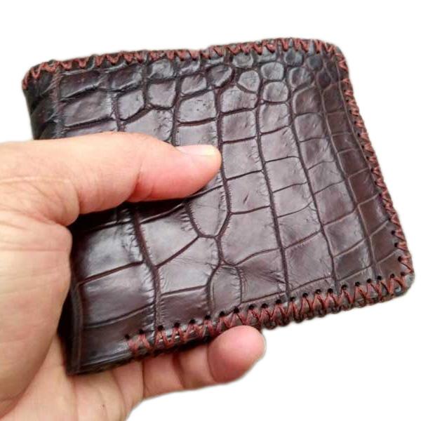 Ví da bụng cá sấu handmade FVS215