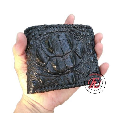 Ví da cá sấu gù đan viền 2 mặt FVS214