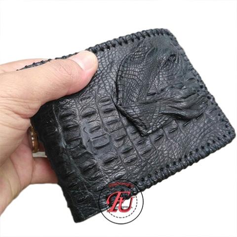 Ví da cá sấu handmade bàn chân FVS212