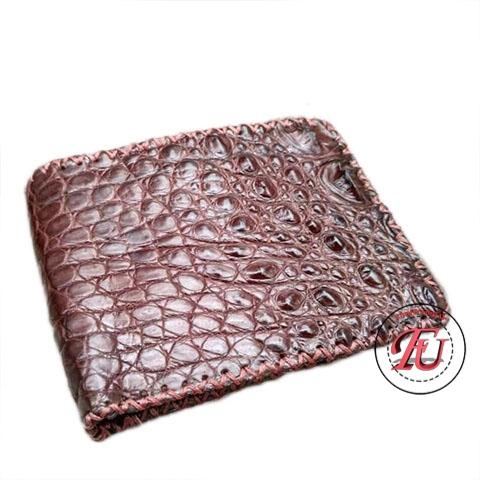 Ví da cá sấu phối handmade FVS217