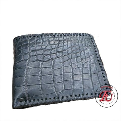Ví da hông cá sấu đan viền FVS211